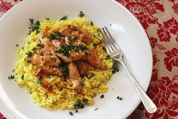 Chicken with spicy rice