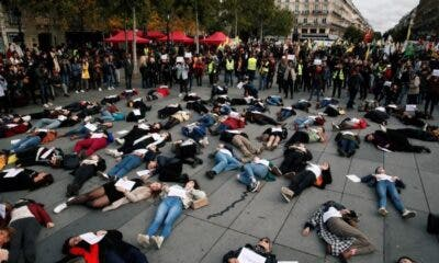Women gather in Paris to protest