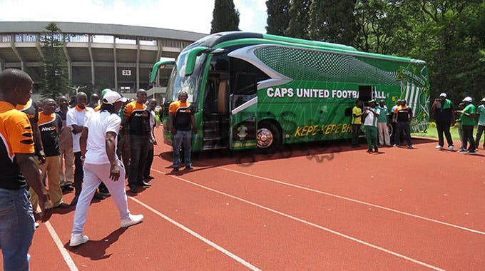 Caps United Bus arrives