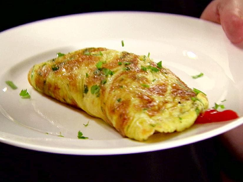 Chicken and tarragon omelette