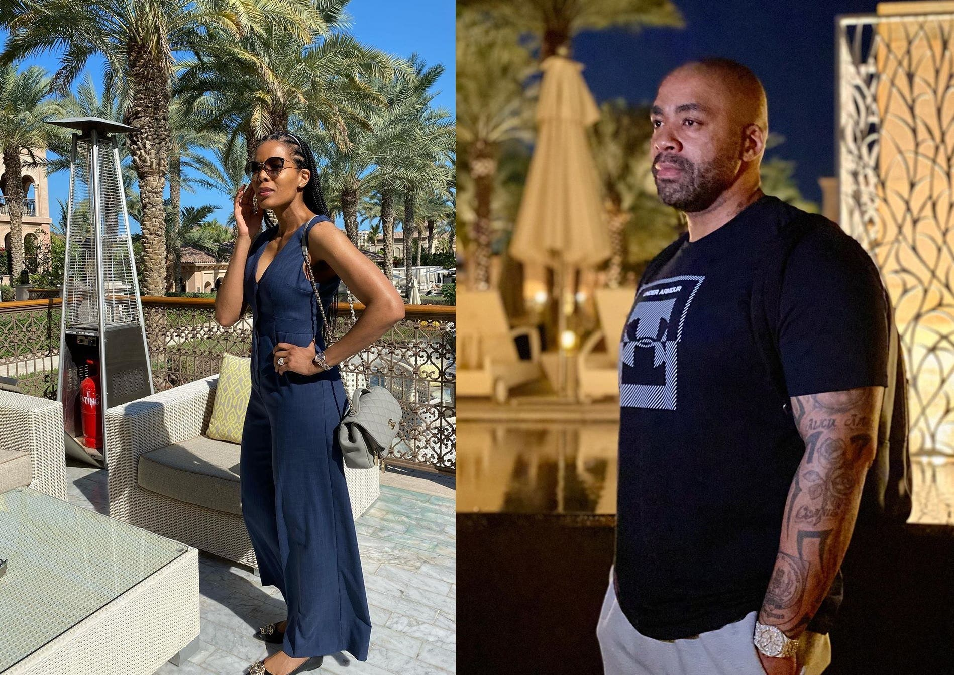 Connie and Shona Ferguson holiday
