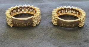Somizi and Mohale's wedding rings