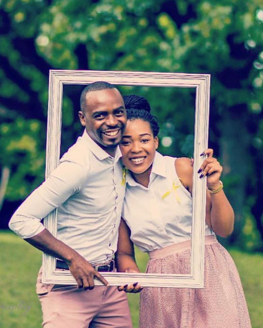 Themba and wife