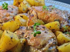 chicken with potatoes - Recipe